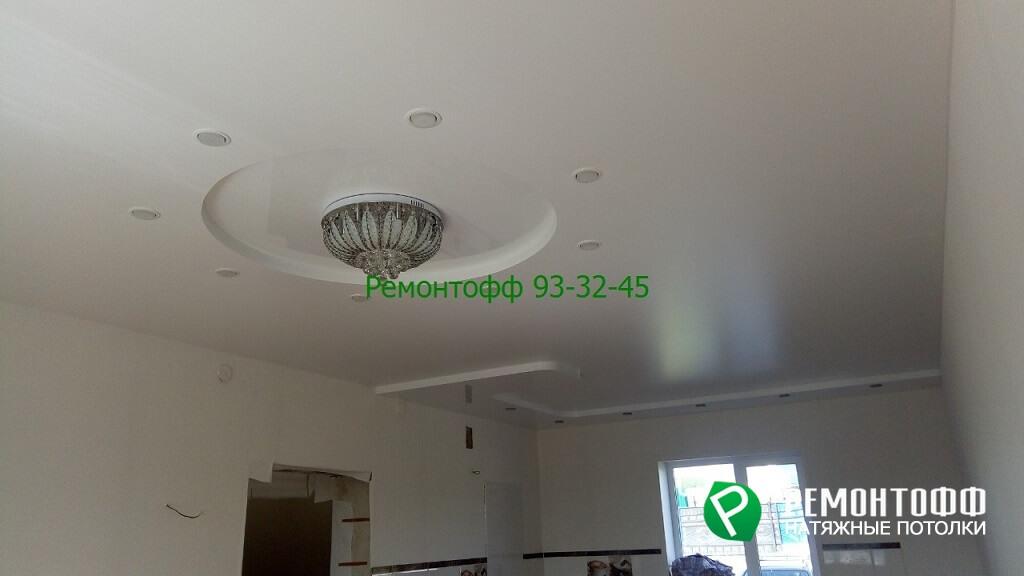 Двухуровневый натяжной потолок 8 м2 в Ульяновске.