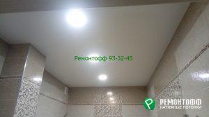 Матовый натяжной потолок 18 м2 белого цвета в городе Ульяновск