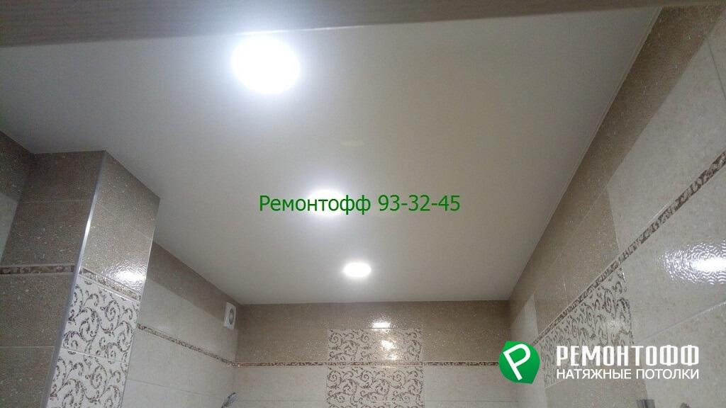 Матовый натяжной потолок 18 м2