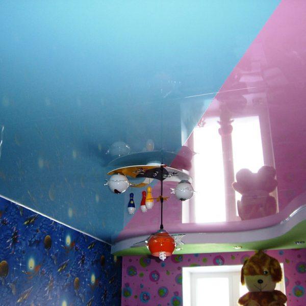 Натяжной потолок в детской фото, компания Ремонтофф. Натяжные потолки в Томске под ключ.