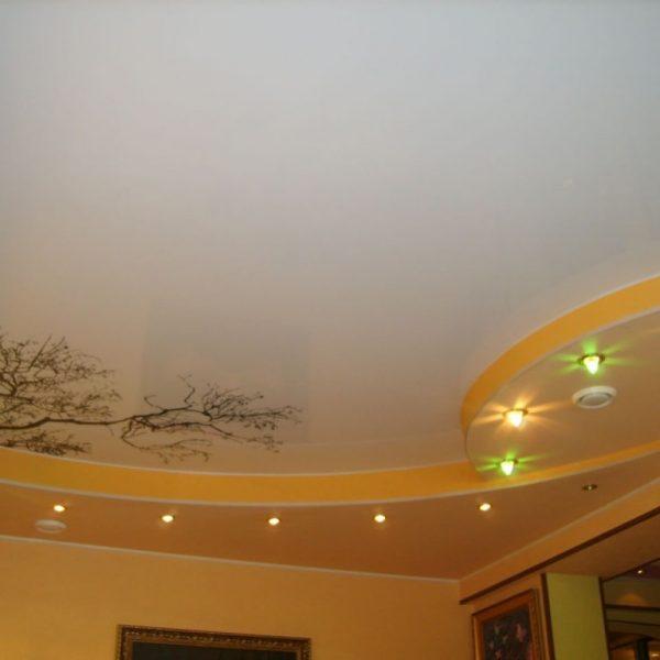 Натяжные потолки в гостиную стоимость от производителя Ремонтофф. Натяжные потолки в Томске под ключ.