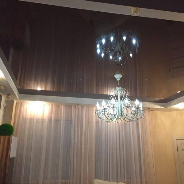 Натяжные потолки в гостиную стоимость от производителя Ремонтофф. Натяжные потолки в Анапе под ключ.