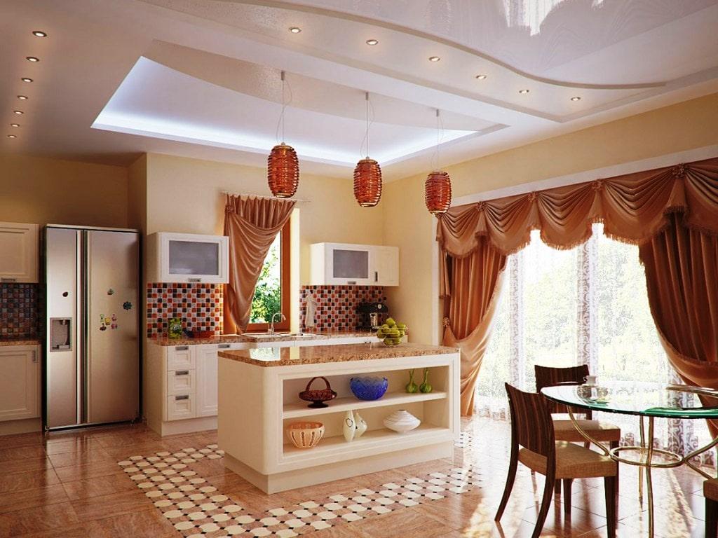 Натяжные потолки в коттедже стоимость от производителя Ремонтофф. Натяжные потолки в Ульяновске под ключ.