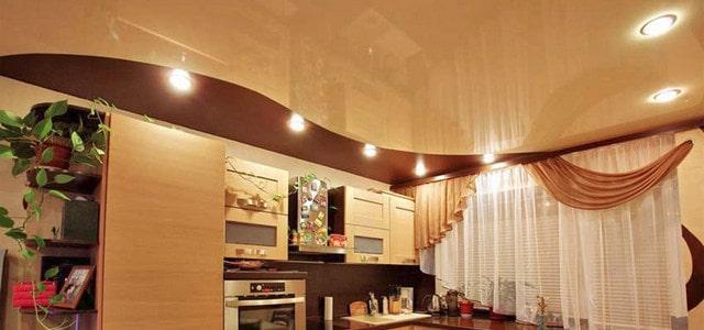 Натяжные потолки для кухни фото, компания Ремонтофф. Натяжные потолки в Ульяновске под ключ.