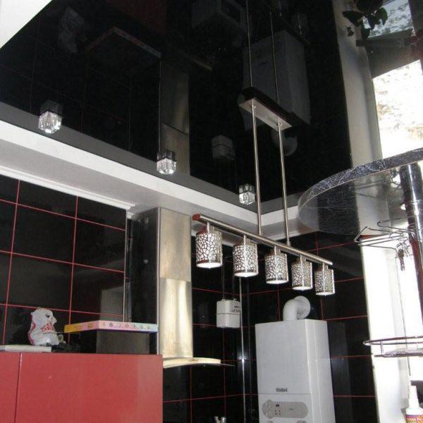 Натяжные потолки на кухне стоимость от производителя Ремонтофф. Натяжные потолки в Анапе под ключ.