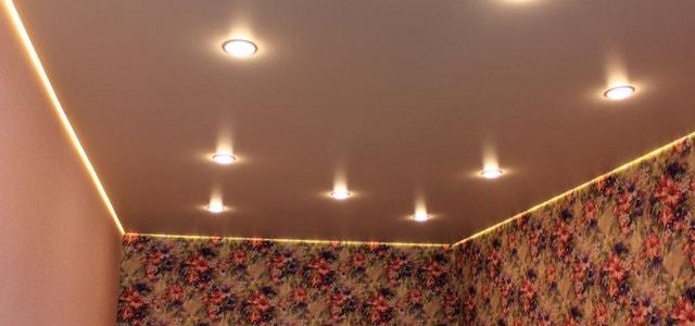 Парящий натяжной потолок от производителя Ремонтофф. Натяжные потолки в Ульяновске под ключ.