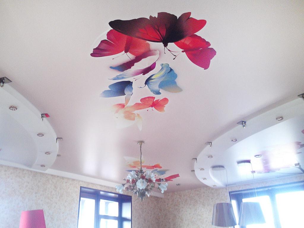 Натяжные потолки фотопечать от производителя Ремонтофф. Натяжные потолки в Ульяновске под ключ.