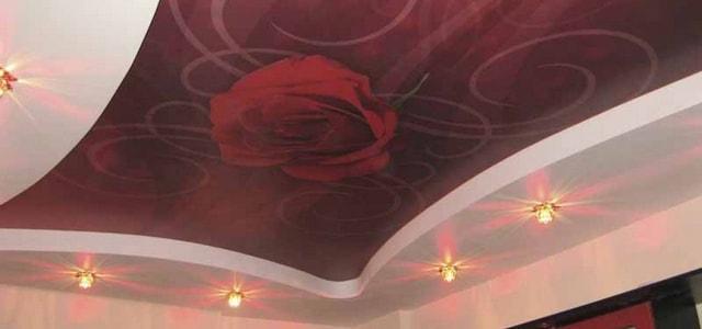 Натяжные потолки для спальни фото, компания Ремонтофф. Натяжные потолки в Ульяновске под ключ.