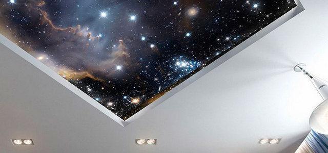 Натяжные потолки звездное небо от производителя Ремонтофф. Натяжные потолки в Ульяновске под ключ.